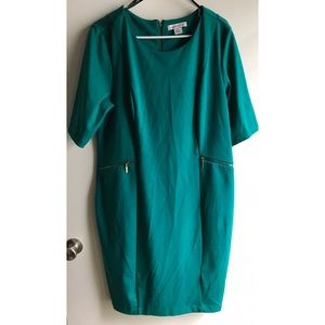 Teal Dress 👗 w/ Zipper Pockets